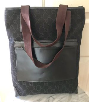Authentic Gucci Canvas Leather GG Chocolate Brown Tote Bag for Sale in Baldwin Park, CA