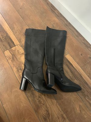 Size 10 Black Leather Thigh High Boots for Sale in Philadelphia, PA