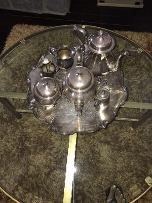 Silver Plated Tea Set for Sale in Hesperia, CA