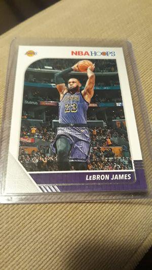 LA Lakers Lebron James Panini Hoops Basketball Card for Sale in Port Orchard, WA