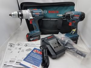 Bosch 17v lithuum hammer drill and impact 2 batteries charger for Sale in Hamtramck, MI