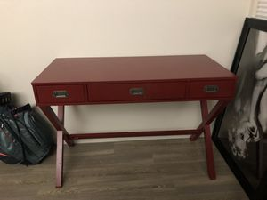 Red wood desk. $75 for Sale in Portland, OR