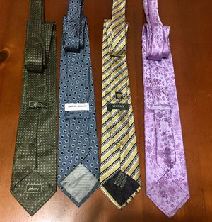 💯 AUTHENTIC VERSACE BRIONI ARMANI BUSINESS SILK Hand Made TIES NEW Supreme Deal!!!! $25 TOTAL FOR ALL for Sale in Raleigh, NC