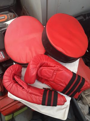 Boxing training gloves and pads for Sale in Lake View Terrace, CA