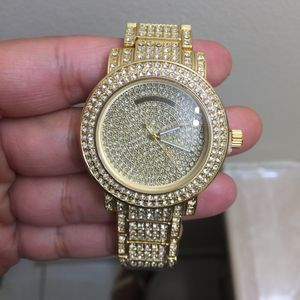 Gold plated crystal bling watch unisex for Sale in Silver Spring, MD