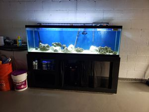 125 gallon fish tank aquarium with stand for Sale in Toms River, NJ