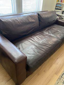 Restoration Hardware Leather Sofa for Sale in Denver,  CO