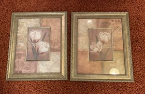 """2 Tulip flower pictures. 24"""" x 20"""" Home Decor for Sale in Parker, CO"""