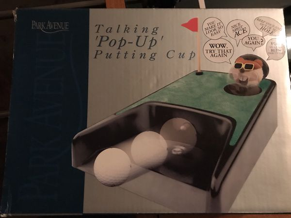 Talking Pop Up Putting Cup