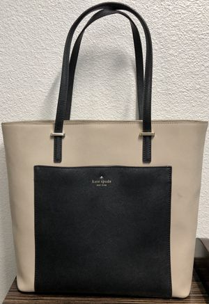 Authentic Kate Spade Large Tote Black & Cream for Sale in Lewisville, TX