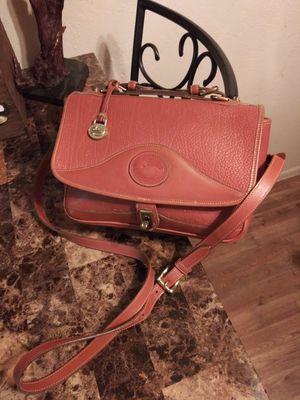 Vintage DOONEY & BOURKE Tan Brown Pebbled Genuine Leather Front Flap Turn-Lock Convertible Style Satchel Crossover Shoulder Bag Purse Messenger for Sale in Phoenix, AZ