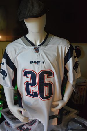 Patriots jersey,100th Anniversary Jerseys. SONY MICHEL #26 .pick up or ship. for Sale in Boston, MA