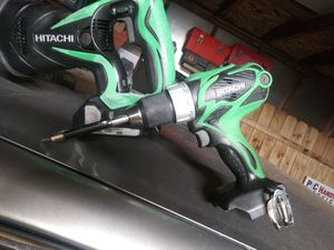 New Hitachi Sawzall with used battery and drill no charger asking 60 dollars price is firm for Sale in Riverside, IL