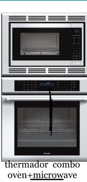 wall oven + microwave combo stainless THERMADOR pro chef.. delivery available. for Sale in Lake Arrowhead, CA