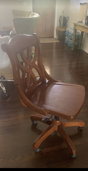 Solid wood desk chair for Sale in Miami, FL