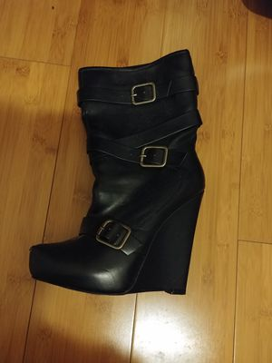 Black wedge boots for Sale in Cleveland, OH