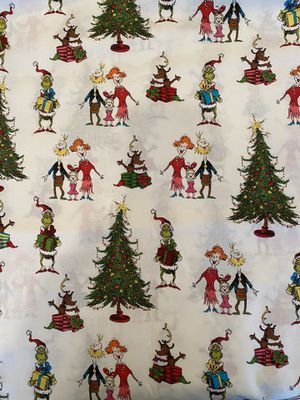The grinch cotton fabric for Sale in Highland, CA