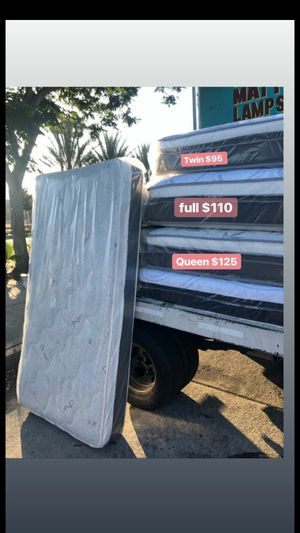 PILLOW TOP MATTRESSES ☎️📲 •10inches thick •same day delivery or pick up •twin $95 •Full $110 •queen $120 $15 -$25 for delivery 🚚 for Sale in Lynwood, CA