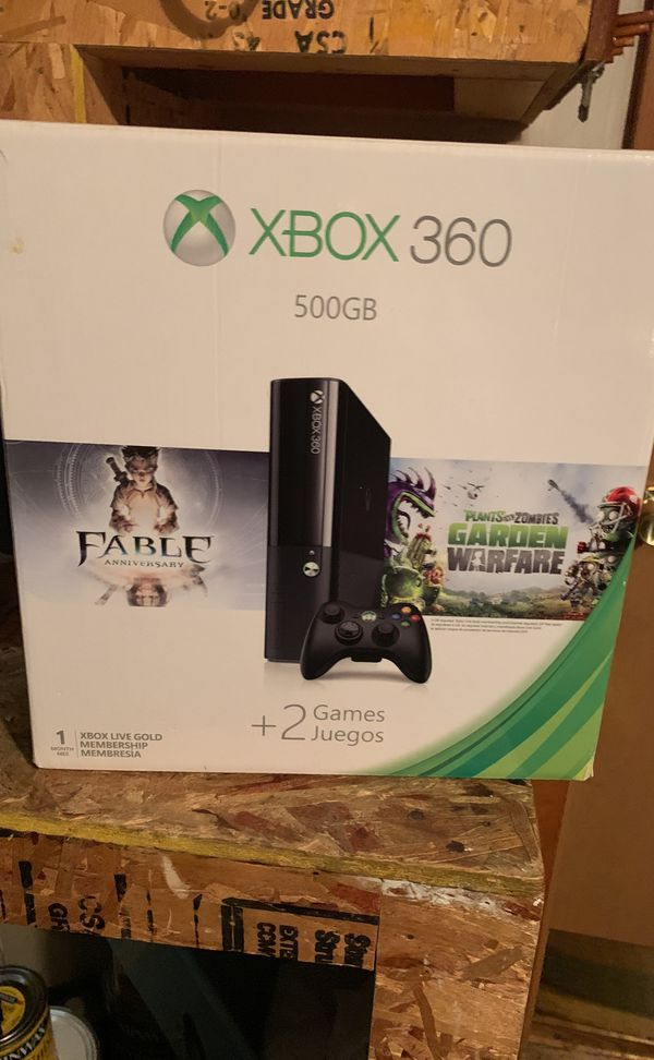 Xbox 360 500GB 1 Controller Included (Rarely Used) 2 free games