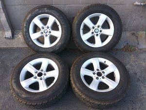 17 inch Aluminum BMW rims with great 235/65/17 tires. 5 on 120mm for Sale in Montebello, CA