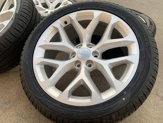 "22"" GMC Sierra Wheels Yukon Denali Rims Tires Cadillac Escalade 6x5.5 for Sale in Rio Linda,  CA"