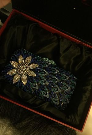 Brand new! Elegant blue/silver hand bag! for Sale in Menifee, CA