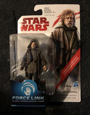 Luke Skywalker in jedi exile outfit force link 3.75 inch action figure star wars the last jedi collectible figure for Sale in Queens, NY