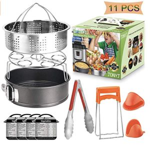 Instant Pot Accessories Set, 11-Piece Fit 5, 6, 8 Qt Instant Pot Accessories Compatible with Steamer Basket, Egg Rack, Springform Pan, Food Tong, Ove for Sale in Mead, WA