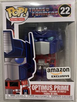 Optimus Prime Metallic Funko Pop *MINT* Amazon Exclusive Retro Toys Transformers 22 with protector for Sale in Lewisville,  TX
