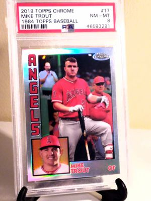 Mike Trout 2019 Topps Chrome! GRADED PSA 8!! ANGELES MLB for Sale in Delray Beach, FL
