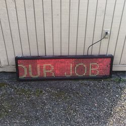 LED Sign For Any Front Store 48 inches long programmable for Sale in Newcastle,  WA