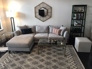 Sofa / Sectional couch + coffee table for Sale in Houston, TX