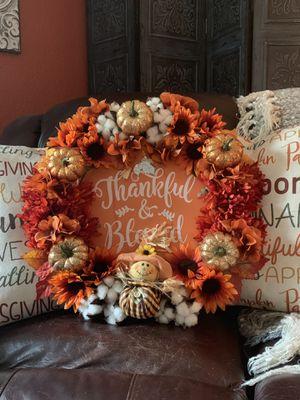 Fall decor,wreath, home decor for Sale in Bonney Lake, WA
