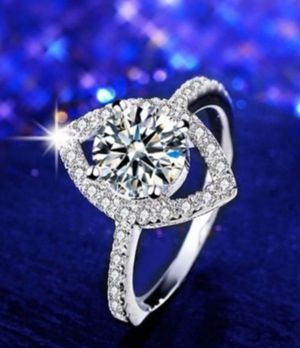 $10 brand new size 8 silver plated CZ ring for Sale in Manchester, MO