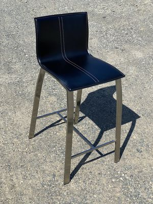 (4) Dania Black with Brushed Chrome Bar Stools for Sale in Issaquah, WA