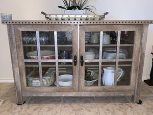 Modern farmhouse two tone TV cabinet/console table for Sale in Oak Point, TX