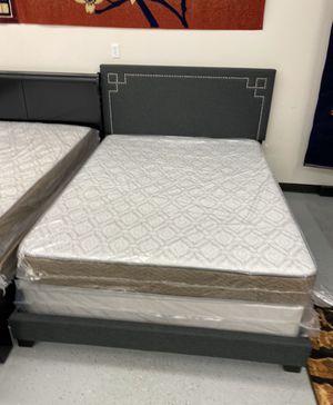 Furniture mattress- Queen bed frame + mattress for Sale in Sacramento, CA