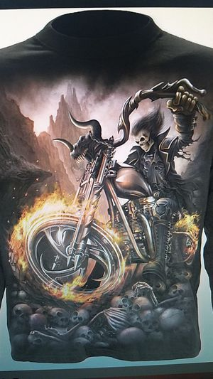 Wheels of fire gothic skull biker mens long sleeve large for Sale in Clinton, IA