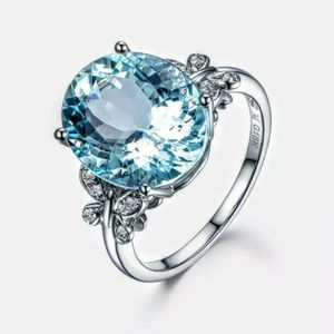 S925 Aquamarine Ring Size 9/10 Available for Sale in Wichita, KS