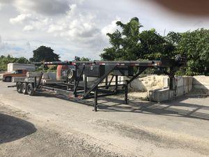 Trailers carga 4 carros es un Appalachia del 2014 en excelentes condiciones 6 gomas nuevas los 6 frenos nuevos barrerías nuevas el winches nuevo para for Sale in Miami, FL