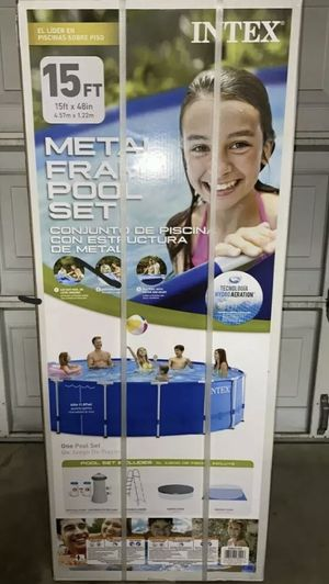 Intex 15x48 above ground swimming pool metal frame for Sale in Magnolia, TX