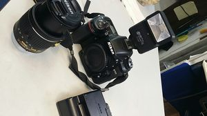 Nikon D7500 with 18-55mm lense, digital concepts flash, and charger /strap for Sale in Atlanta, GA