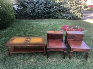 1950's wood Coffee table and two end tables for Sale in Syosset, NY