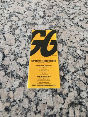 System Timetable from 1980 for Sale in Los Angeles, CA