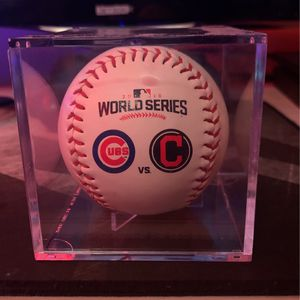 Chicago Cubs Vs Indians World Series Collector Baseball for Sale in Chicago, IL