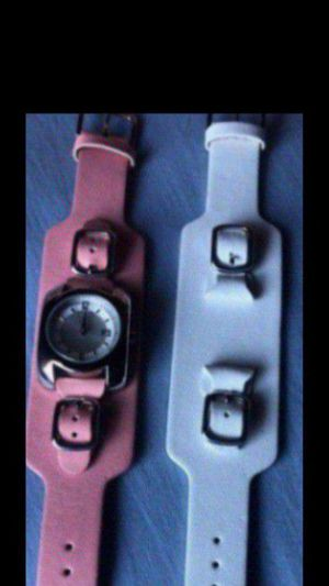 Wilson's Leather Watch Changeable Bands pink/white for Sale in Vallejo, CA