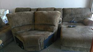 Brand-new brown sectional set with cup holders and 4 electric recliners for Sale in Las Vegas, NV