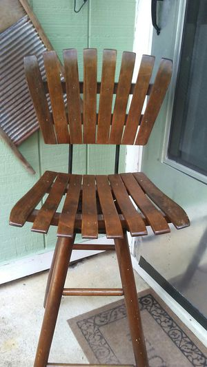Vintage wood bar stool for Sale in Raleigh, NC