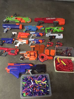 Several newer nerf guns with ammo! for Sale in Brooklyn Center, MN