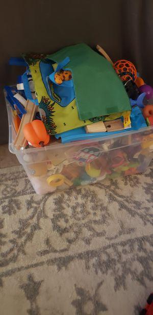 Bin of kids toys for Sale in Trinity, FL